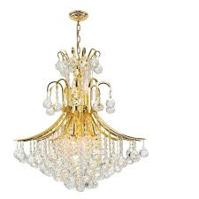 worldwide lighting empire collection 11 light polished gold crystal chandelier