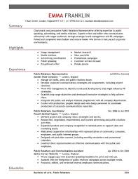 Sample Public Relations Manager Resume 20 Well Crafted Public