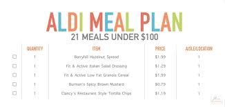 Family Meal Plans Aldi Meal Plan Simple Easy Meal Ideas For Families