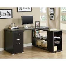 home office l desk. Monarch 2-in-1 Piece Cappuccino Office Suite Home L Desk