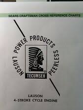 Craftsman To Tecumseh Cross Reference Chart Heavy Equipment Manuals Books For Craftsman Tractor For