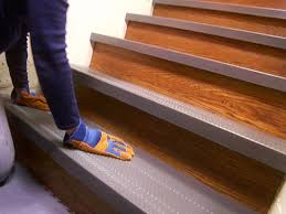 Non Slip Flooring For Kitchens Installing Non Slip Stair Treads How Tos Diy