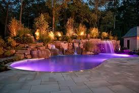 swimming pool lighting options. Outdoor Custom Fiber Optic Pool And Landscape Lighting Ideas Saddle River NJ Swimming Options D