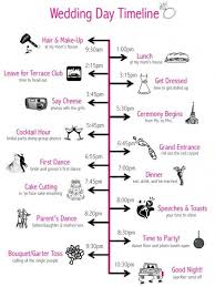 Wedding Schedule Wedding Day Timeline Like The Ideas But 10 30 Is Way Too Early