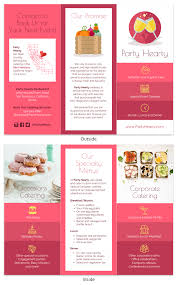 Catering Food Tri Fold Brochure