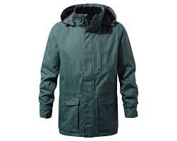 Men's Jackets | Jackets For Men | Craghoppers | Craghoppers & Kiwi Long Interactive Jacket Asteroid Green Adamdwight.com