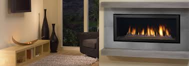 the hz40e gas fireplace shown with clean edge finish and elegant copper crystals