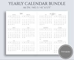 At A Glance Yearly Calendars Yearly Calendar Bundle 2018 2019 Year At A Glance Important