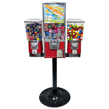 Vending Machine Combo Magnificent Rhino Triple Toy And Gumball Machine Combo CandyMachines