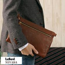 product made in men s clutch back leather genuine leather second bag b5 ipad aoki bag japan
