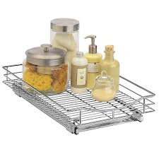 Kitchen Cabinet Sliding Shelf Lynk Roll Out Cabinet Organizer Pull Out Drawer Under Cabinet