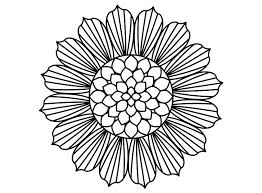 Big Coloring Pages Of Flowers Sunflower Page Collection Free