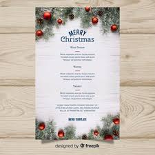 christmas free template christmas menu vectors photos and psd files free download