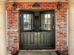 glass front door glass panes double front doors double front doors attractive red brick outdoor