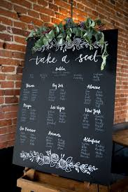 Blackboard Seating Chart Pretty Meets Relaxed Countryside Wedding Were Getting