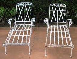 salterini wrought iron furniture. salterini chaise lounges joan bogart vintage patio furnituresalterinichaise loungeswrought ironshabby wrought iron furniture o