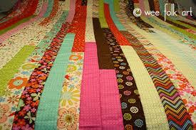 Jelly Roll Race Quilt :: Make a Quilt in an Hour?! - Wee Folk Art & Jelly Roll Race Quilt :: Make a Quilt in an Hour?! Adamdwight.com