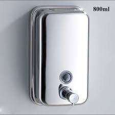 800ml wall mounted stainless steel soap dispenser