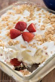 No Bake Strawberry Shortcake Dessert Crazy For Crust