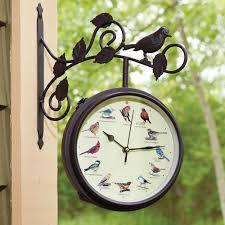 audubon singing bird wall clock green 8 inch audubon singing bird wall clock bird sound clocks