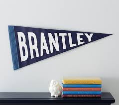 personalized pennant flag kids wall