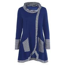 <b>Pinstriped Patchwork Pockets Design</b> Tee   Trendy fashion tops ...
