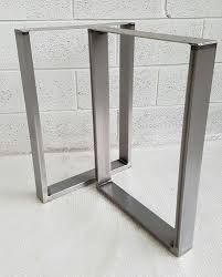 table metal legs. 2x table / bench legs designer metal steel industrial