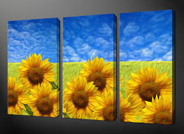 sunflower field canvas wall art pictures prints free uk pp size on sunflower wall art canvas with free ship modern sunflower oil painting canvas posters and prints