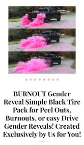 burnout gender reveal packs
