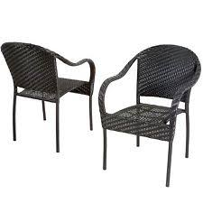 image black wicker outdoor furniture. outdoor patio furniture black pe wicker dining chair folding image