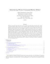 (PDF) Introducing Divine-Command Robot Ethics