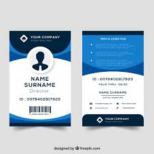 Identification Template Id Card Template Vector Free Download