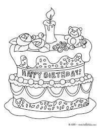 Birthday Cake Coloring Page Elsie Birthday Coloring Pages Happy