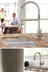 Polished Nickel Kitchen Faucet 17 Best Ideas About Brushed Nickel Kitchen Faucet On Pinterest