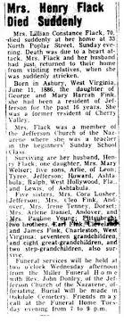 "Lillian Constance ""Connie"" Fink Flack (1886-1956) - Find A Grave ..."