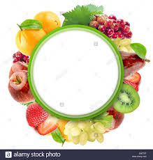 fruit and vegetables border.  Fruit Healthy Organic Vegetables And Fruits On A White Background Art Border  Design With Copy Space Throughout Fruit And