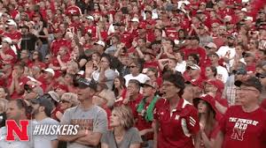 sports fans cheering gif. nebraska reaction gifs sports fans cheering gif