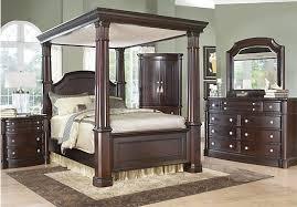 Dumont Queen Dark Cherry 6Pc Canopy Bedroom | ROOMS IN MY HOME ...