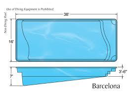 fiberglass pool shapes. Delighful Shapes Barcelona Pool Shape On Fiberglass Shapes