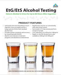 Etg Levels Chart Etg Alcohol Lab Testing Service Buy Drug Tests In Bulk At