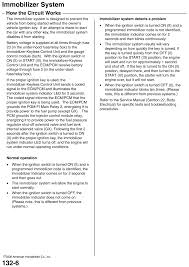 Engine Immobilizer System Indicator Light Repair Guides