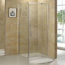 ... Miranda Reversible Corner Shower Enclosure features sleek lines framed  in aluminum. With transparent glass walls, this shower enclosure offers an  extra ...
