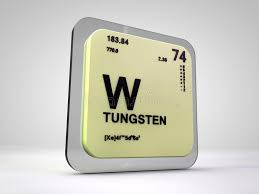 Tungsten- W - Chemical Element Periodic Table Stock Illustration ...