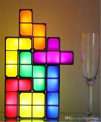 tetris puzzle light stackable led desk lamp diy constructible block led light toy retro game tower block baby nightlight stackable night light tetris puzzle