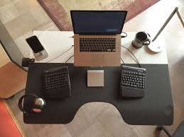 brandon wentland s ergonomic setup top view
