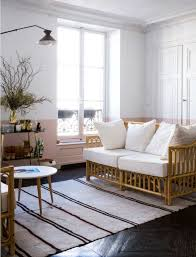 how to decorate with half painted walls