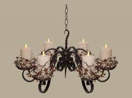 rustic votive chandeliers pillar candle chandelier lighting non electric hanging