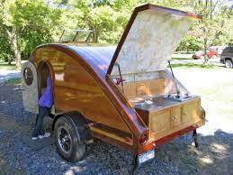 homemade teardrop trailer rv camper