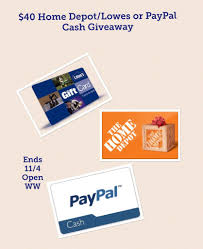 lowes gift card paypal can