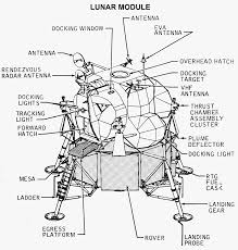 Ponent identification drawing of the lunar landing module
